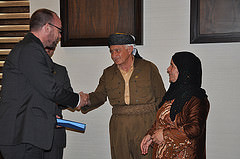 Serhed Ajib and his wife Nasreen receive awards for their tireless work against FGM