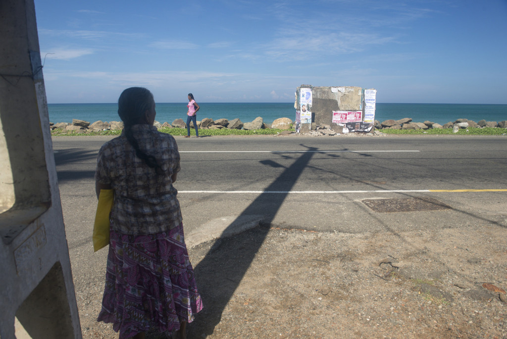 Waiting for the bus in Sri Lanka by Brett Davies