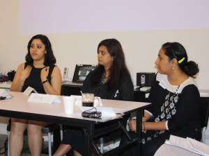 Insia, Areefa and Priya from the Indian Group Sahiyo